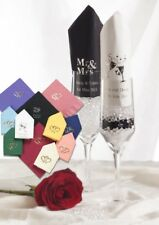 100 Personalised Wedding Napkins 10 Designs 12 Colour options