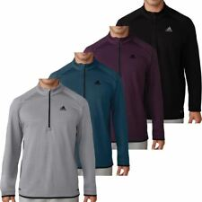 Adidas 2017 Mens ClimaHeat Gridded Quarter Zip Performance Pullover