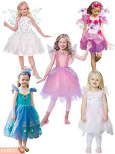 Girls Deluxe Fairy Costume Childs Toddlers Fairytale Fairies Fancy Dress Outfit
