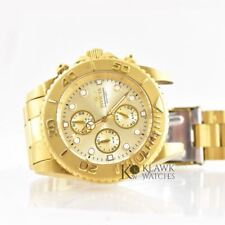 Invicta Pro Diver 1774 18K Gold Plated Men's Stainless Chronograph Watch