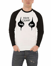 Alice Cooper T Shirt Mens White Eyes Makeup Logo new Official Baseball Shirt