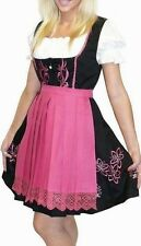 Dirndl Oktoberfest Party German Swing SHORT Dress EMBROIDERED 3 Pcs COMPLETE SET