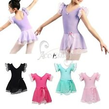 Girls Gymnastics Dancing Dress Kids Ballet Tutu Dance Wear Leotard Skirt Costume