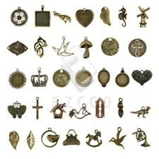 2-100pc Antique Brass Spacer Pendant Charm Jewelry Makings 35 style Wholesale HC