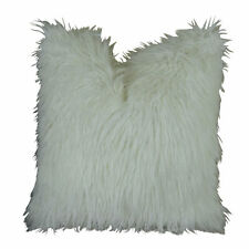 Plutus Curly Mongolian Faux Fur White Handmade Double-sided White