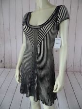FREE PEOPLE ANTHROPOLOGIE Dress XS, M NEW $128 Black Beige Ribbed Knit Cotton