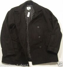 Old Navy Men's Black Double Breasted Wool Blend Peacoat