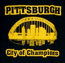 PITTSBURGH City of Champions Womens T-Shirt black and gold