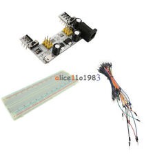 830 Solderless PCB Breadboard MB102 Power Supply Module +65PCS Jump Cable Wires