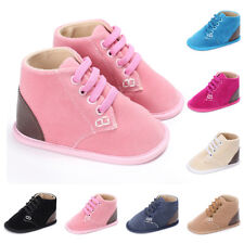 Baby Boys Girls Toddler Soft Cotton Blends Bottom Sneaker Ankle Boots Shoes
