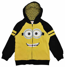 Despicable Me Minions Boys Yellow Zip Hoodie Jacket
