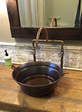 "15"" Rustic Copper BUCKET Vessel Bath Sink Your Choice of Drain"