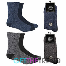 Mens Thermal Cosy Socks Lounge Warm Winter Slipper Thick Gripper Gift Idea 6-11