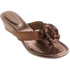 Lindsay Phillips Missy SwitchFlops Wedge Sandals Bronze New