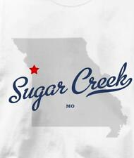 Sugar Creek, Jackson County, Missouri MO MAP Souvenir T Shirt All Sizes & Colors