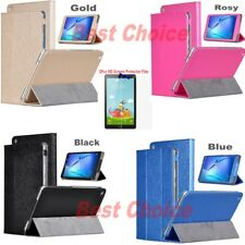 PU Leather Folio Case Cover + HD Screen Film for Huawei MediaPad T3 8.0 Tablet