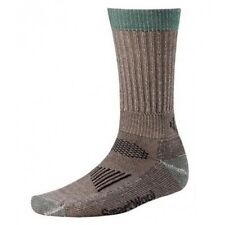 NWT UNISEX MENS SMARTWOOL HUNT HUNTING CREW LIGHT PADDED TAUPE SOCKS SIZE LARGE