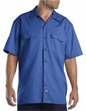 Dickies Royal Blue 1574 Traditional Short Sleeve Work Shirt Size S-3XL NWT