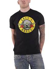 Guns N Roses T Shirt band logo Circle foil print new Official Mens Black