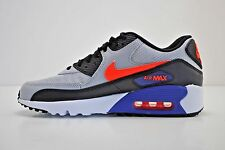 Nike Air Max 90 Mesh GS Running Shoes Size 5Y - 7Y Grey Black Blue 833418 002