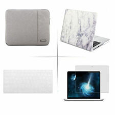 hard case sleeve bag keyboard cover screen protector for Apple macbook pro air