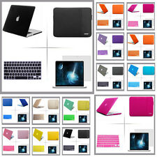 For Macbook Pro Air MCwhite 11 13 15 Rubberized case sleeve bag keyboard cover