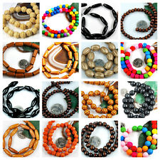 Wholesale Natural Wood Beads,Rice/Drop Rondelle Oval Tube Round Barrel Drop