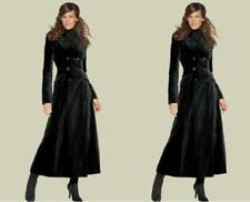 Long Wool Blend Womens Coat Double Breasted Military Jacket Trench Outwear SH88