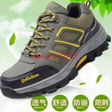 Mens Safety Shoes mesh Breathable Work  Steel Toe outdoor lace up hiking climbe