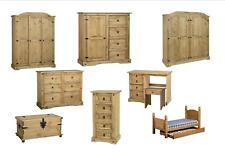 Seconique Corona Bedroom Furniture - Wardrobe Chest Bedside   Solid Mexican Pine