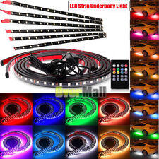 RGB LED Strip Under Car Tube Underglow Underbody Glow System Neon Light Remote