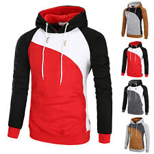 Autumn Fashion Mens Casual Long Sleeve Hooded T-Shirt Hoodie Hoody Top Slim Fit