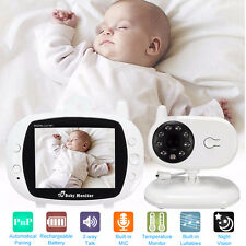 "2.4GHz Wireless 3.5"" TFT LCD  Video Baby Monitor Night Vision Camera 2-Way Talk"