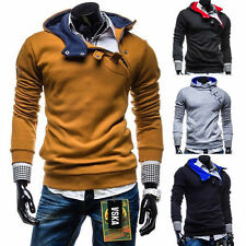 NEW Men's Casual Fashion Slim Fit Sexy Top Designed Hoodies Jackets Coats Tops a