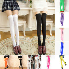 Women Ladies Extra Long Boot Socks Over Knee Thigh High School Girl Stockings