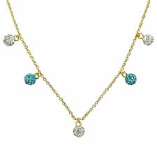 Molly Glitz Glitz Blitz 14k Goldplated and Dangling Crystal Balls Necklace