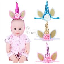 Toddler Baby Elastic Flower Hairband Unicorn Headband Girls Party Fancy Cosplay