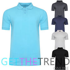 New Men Polo Shirts Top Plus Size Pique Collared Summer Casual Top T-Shirt S-5XL