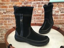 Clarks Black Suede Water Resistant Andes Fortune Boots NEW