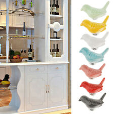 Creative Bird Ceramic Drawer Cabinet Cupboard Pull Handle Wardrobe Knob 7 Colors