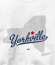 Yorkville, New York NY MAP Souvenir T Shirt All Sizes & Colors