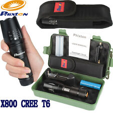 5000LM Zoomable XML XM-L T6 LED 26650/AAA Flashlight+18650 Battery+Charger+Case