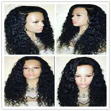 Hot Brazilian Curly Full lace Wig  Human Hair Wigs Baby Hair Front Lace Wig+Gift