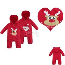 Christmas Santa Claus Boys Girls Infant Baby Jumpsuit Reindeer Toddler Costumes
