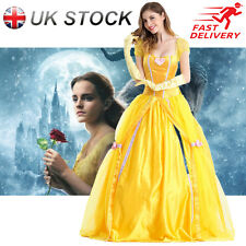 Adult Belle Cosplay Costume Beauty and The Beast Princess Fancy Dress Halloween