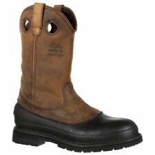 Georgia Boot 12in Muddog Pull On Brown - Mens  - Size
