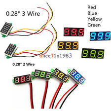 """0.28"""" Red/Blue/Yellow/Green 2/3-Wire Voltmeter LED Display Voltage Panel Meter"""