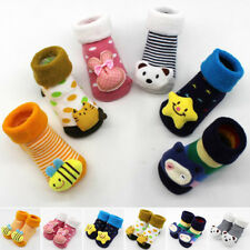 Newborn Baby Girl Boy Anti-slip Socks Toddler Winter Warm Cute Slipper Shoes