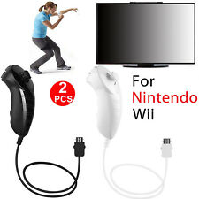Pack of 2 Nunchuck Nunchuk Controller Remote for Nintendo Wii Console Video Game