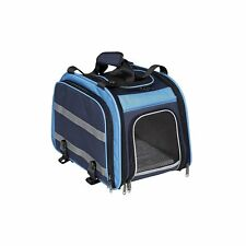 Nantucket Bike Basket Co Expandable Rear Pet Carrier Basket, Light Blue/Navy...